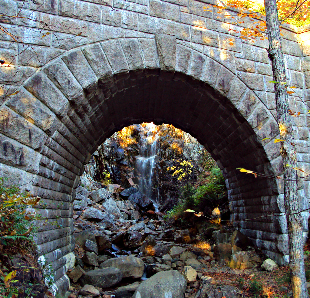 Waterfall Bridge, Acadia National Park